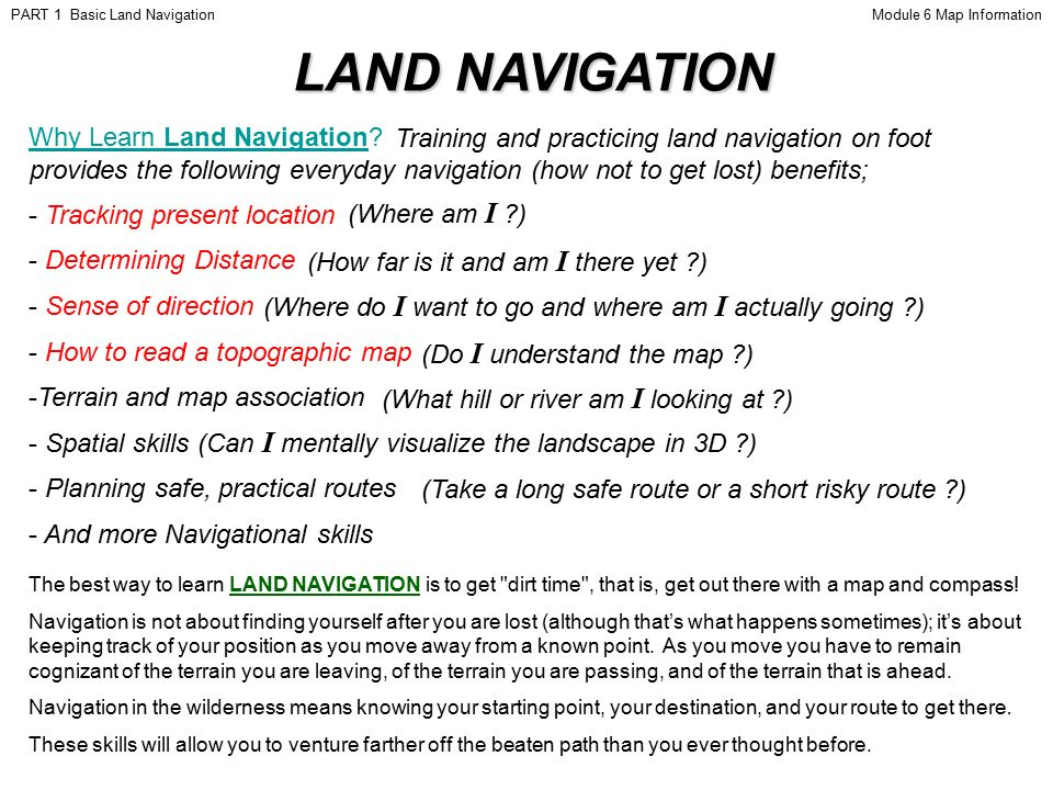 Map and Compass (Land Navigation) - Teamlink and ...