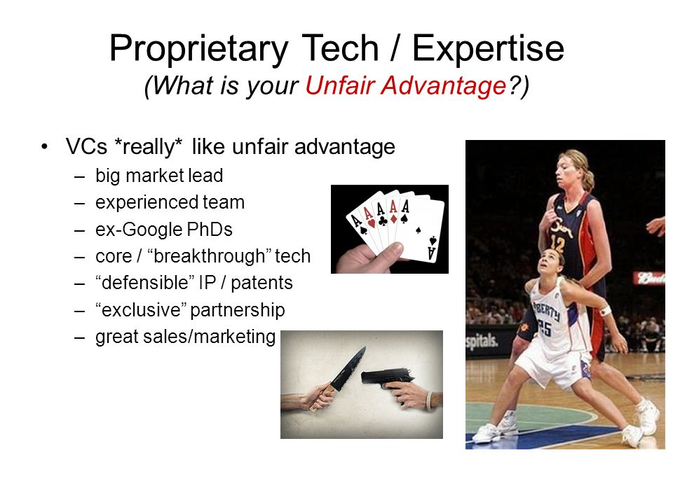 Proprietary Tech / Expertise (What is your Unfair Advantage )
