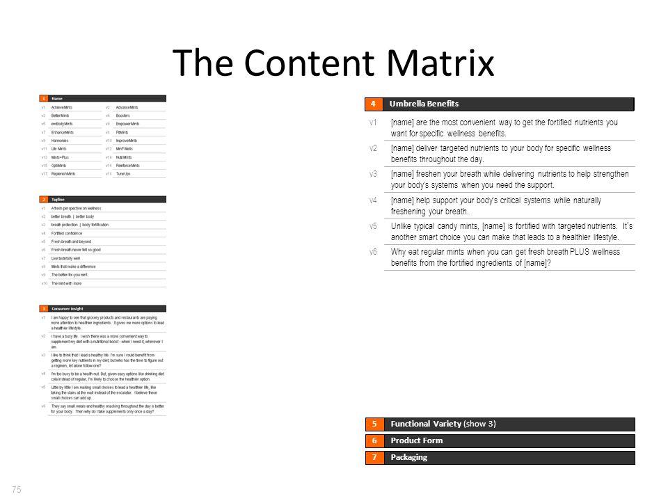 The Content Matrix 75 Umbrella Benefits 4