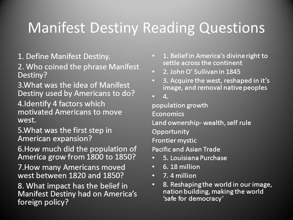 manifest destiny really imperialism There were, however, significant differences between the manifest destiny of the 1840s and the new imperialism of the late nineteenth and early twentieth centuries unlike manifest destiny, under new imperialism the us had no intention of supplanting or replacing the native populations.