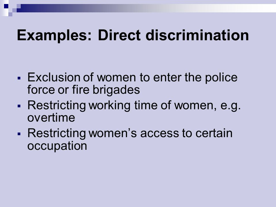 discrimination and equal opportunity