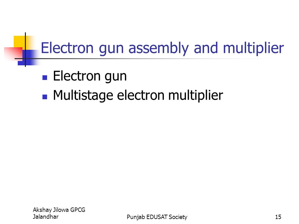 Electron Gun Assembly : Television camera tubes ppt video online download
