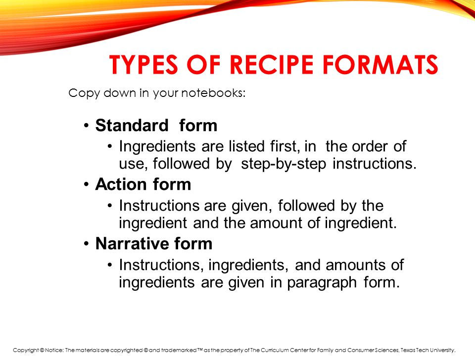 Warm-Up What's wrong with this recipe? - ppt download