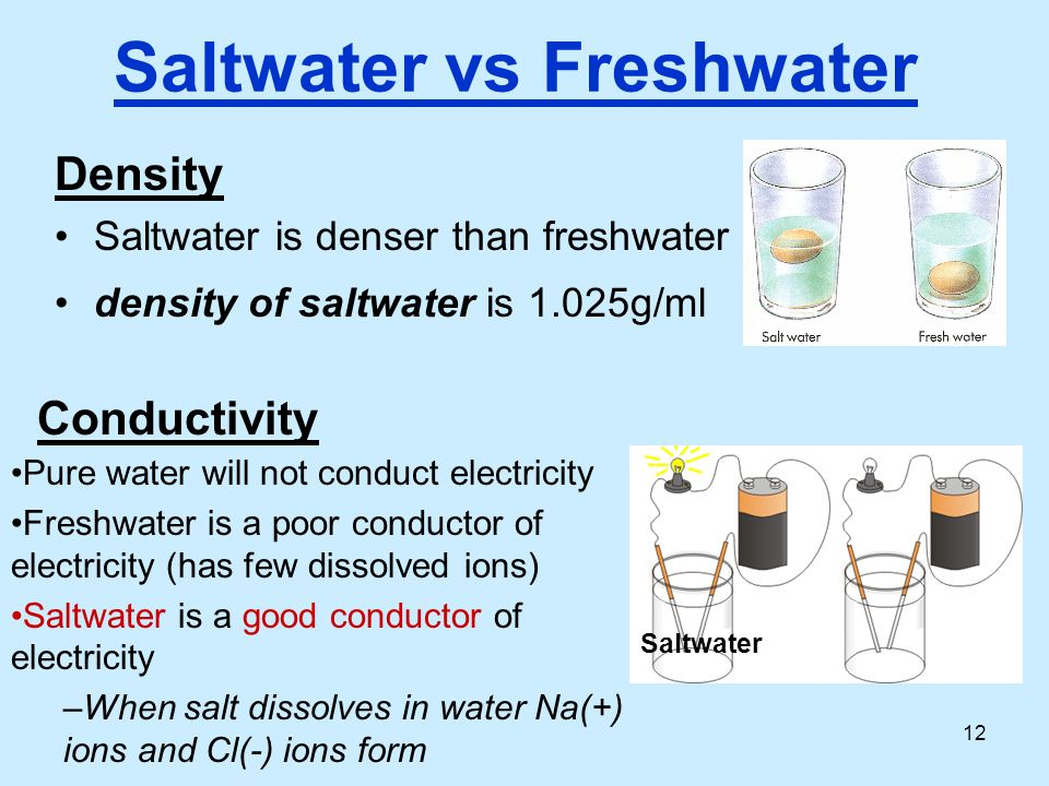 salt water as alternative to electricity