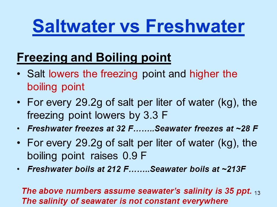 lowering the freezing point of water The key is in the terminology- the freeze point suppressant must be a solute oil  won't suppress the freeze point of water because it doesn't.