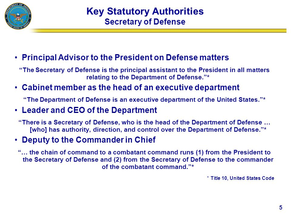 Department of Defense Overview - ppt video online download