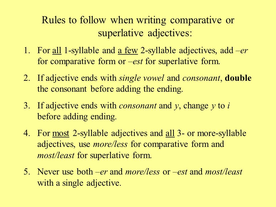 COMPARATIVE adjectives compare TWO things. - ppt video online download