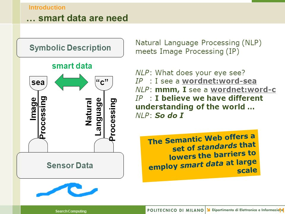 Introduction … smart data are need