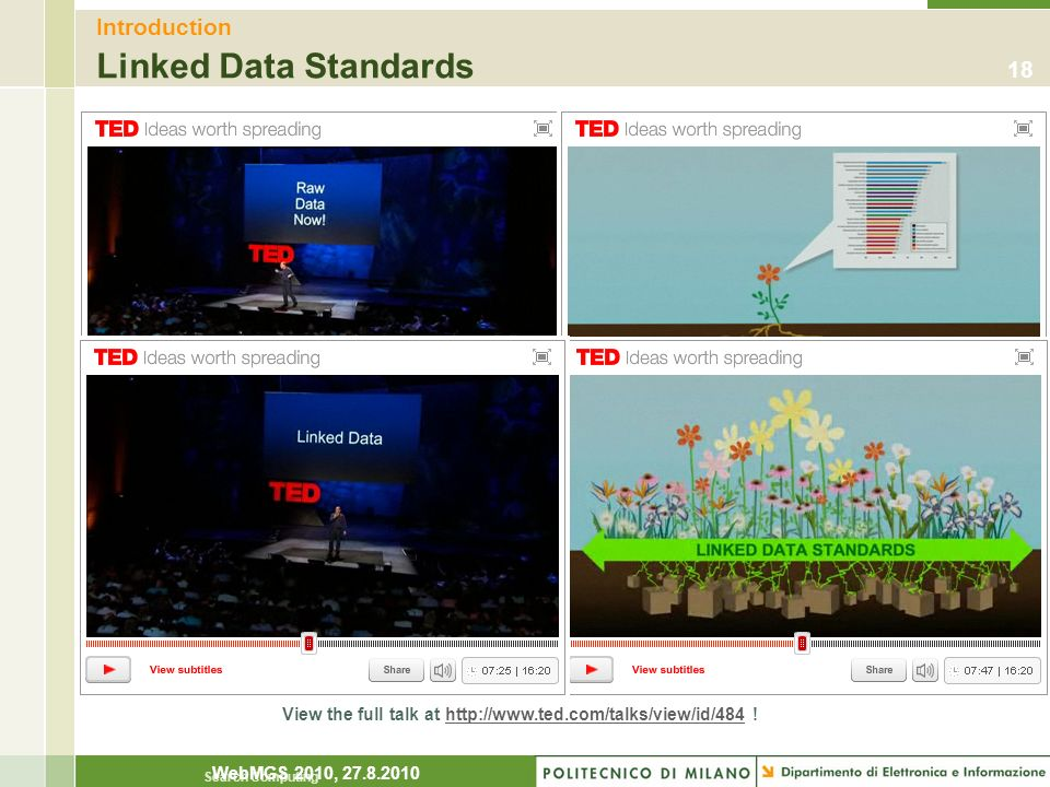 Introduction Linked Data Standards