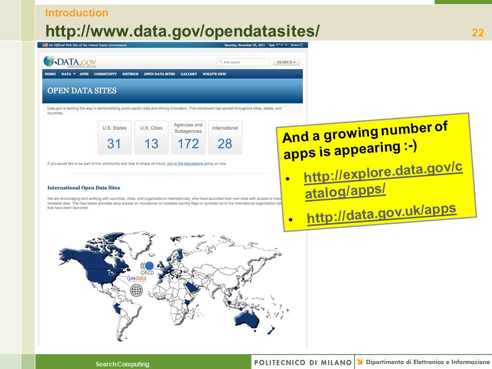 Introduction http://www.data.gov/opendatasites/