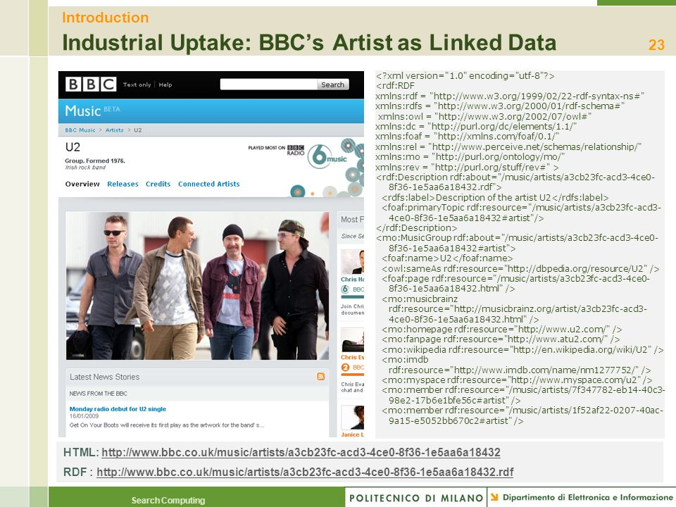 Introduction Industrial Uptake: BBC's Artist as Linked Data
