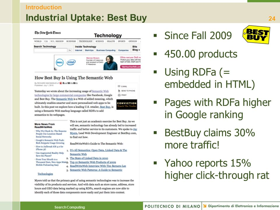Introduction Industrial Uptake: Best Buy