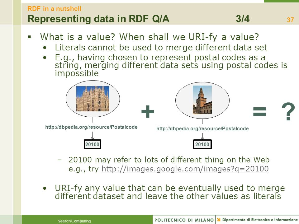 RDF in a nutshell Representing data in RDF Q/A 3/4