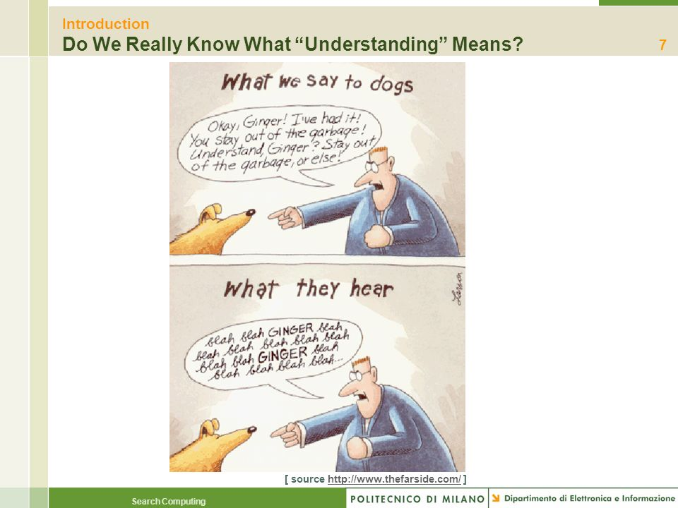 Introduction Do We Really Know What Understanding Means