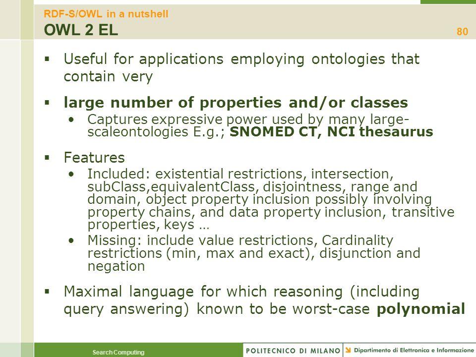 RDF-S/OWL in a nutshell OWL 2 EL