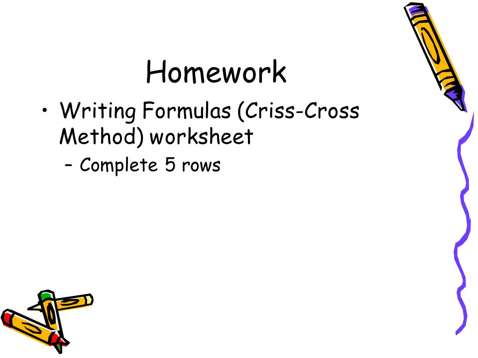 Criss Cross Method Worksheet - The Best and Most Comprehensive ...