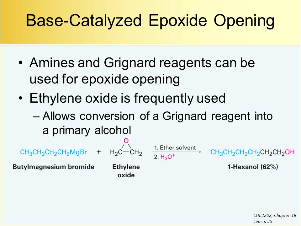 Grignard Reagent Can Be Used For Ring Opening