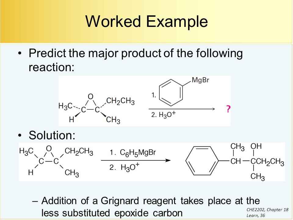 the grignard reagent Grignard reactions a grignard reagent is an organic magnesium halide it can be either an alkyl or an aryl compound (rmgx or armgx) grignard.