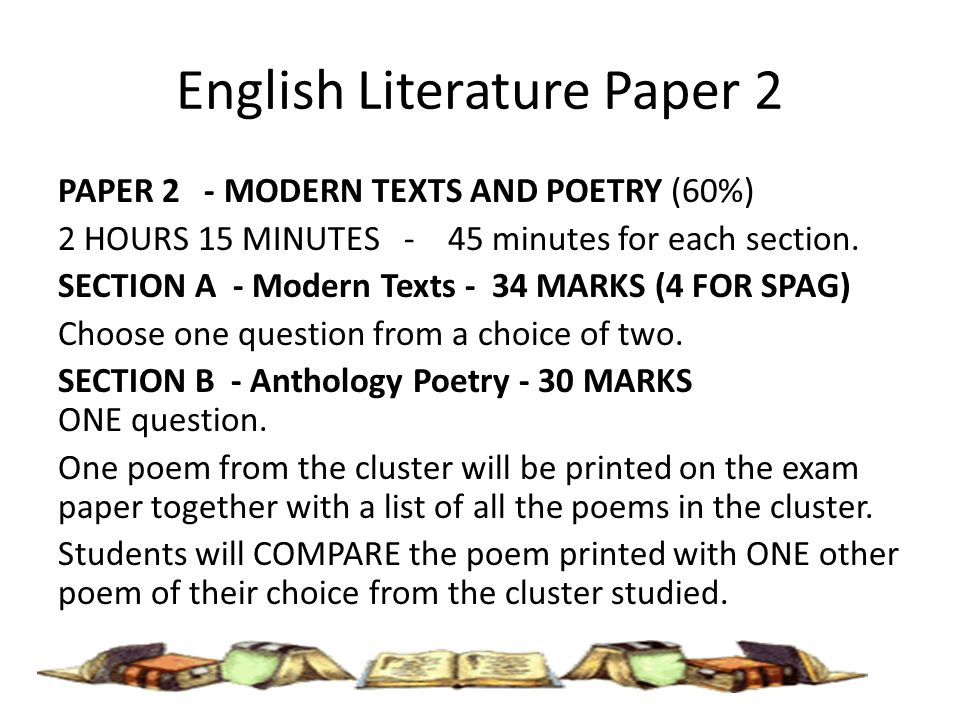 Example 4—English language an literature paper 2