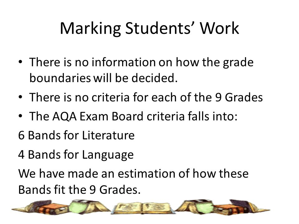 aqa gcse english coursework grade descriptors How do the new gcse grades compare to the old  the new 9 to 1 grades will  only apply to gcses in english literature, english language.