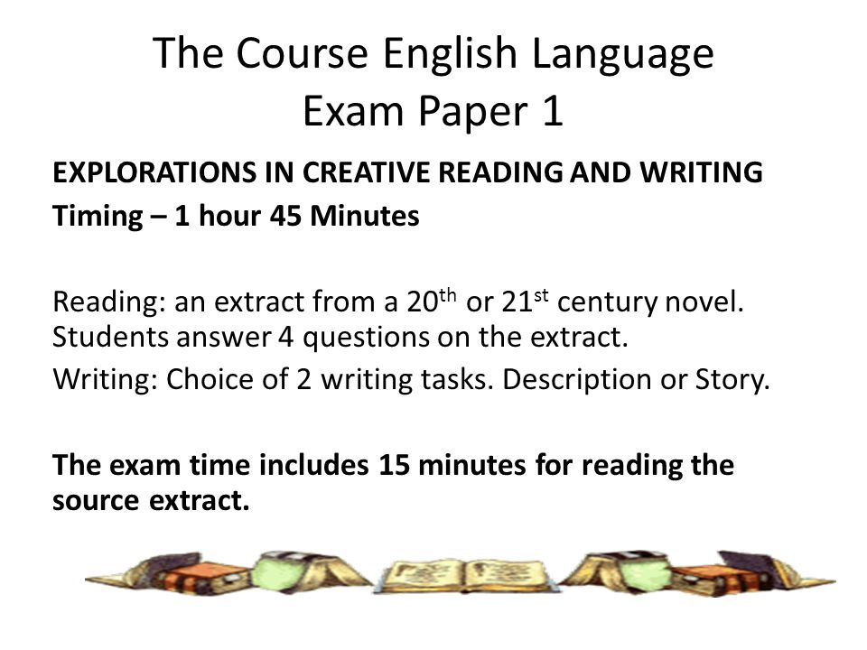 http://slideplayer.com/8935043/27/images/8/The+Course+English+Language+Exam+Paper+1.jpg