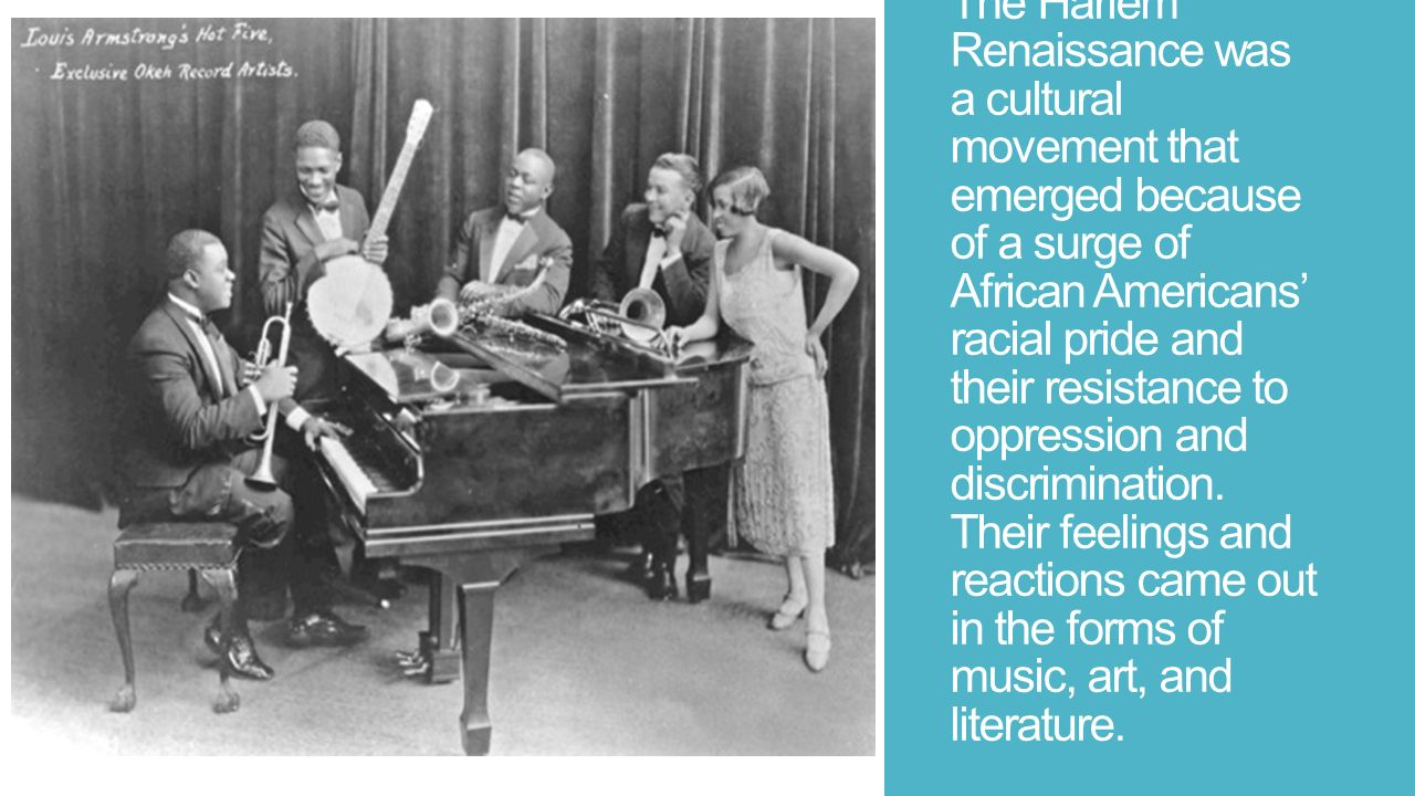 the new racial pride that emerged in the black intelligencia during the harlem renaissance Full text of subversive influences in riots, looting, and burning hearings, ninetieth congress, first [-second] session see other formats.
