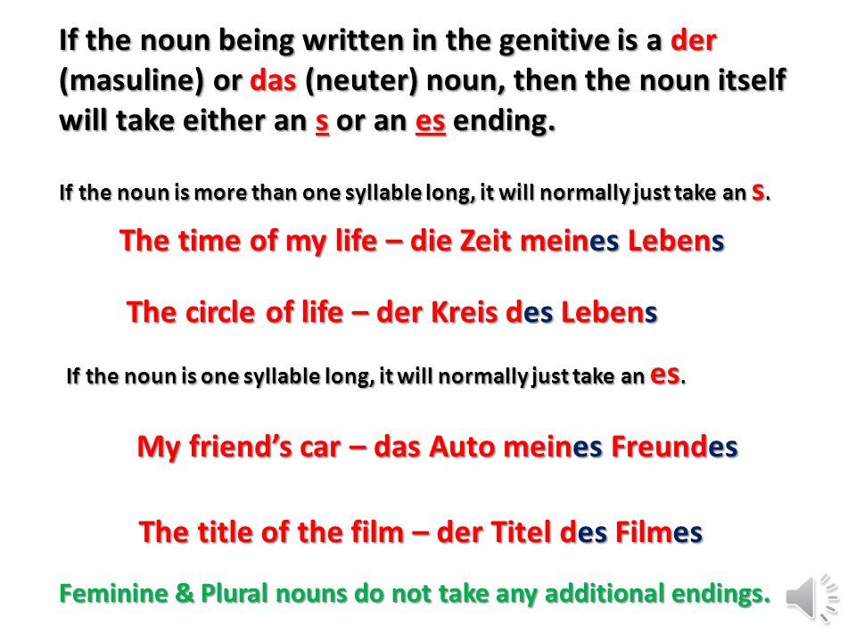 The time of my life – die Zeit meines Lebens