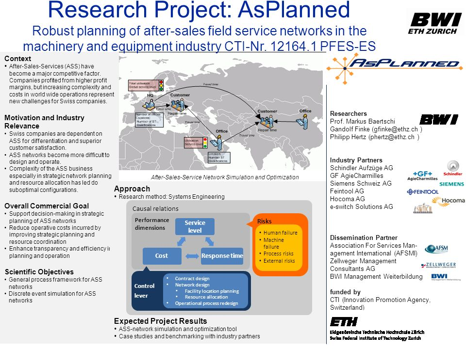 Research Project: AsPlanned
