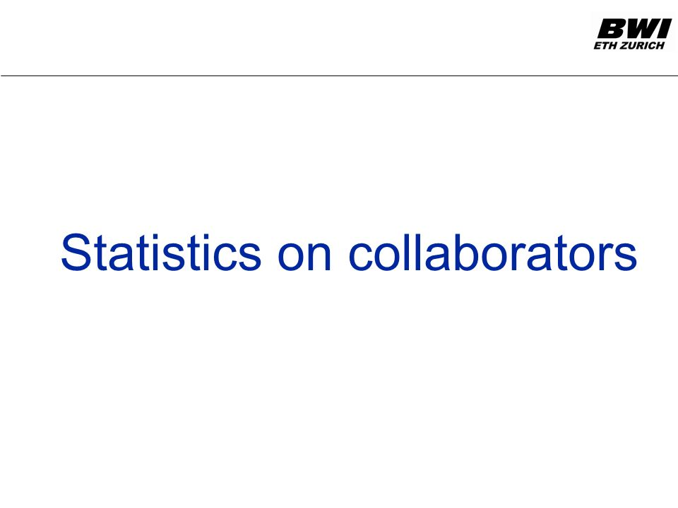 Statistics on collaborators