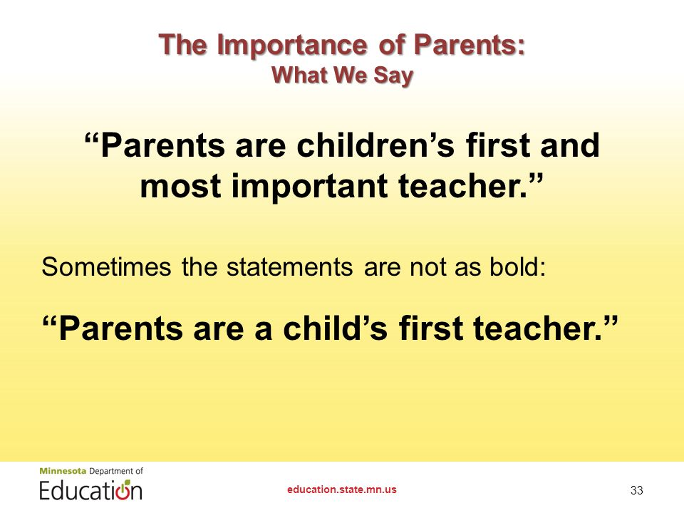 The Importance Of Parents As The First Teacher Free Essays