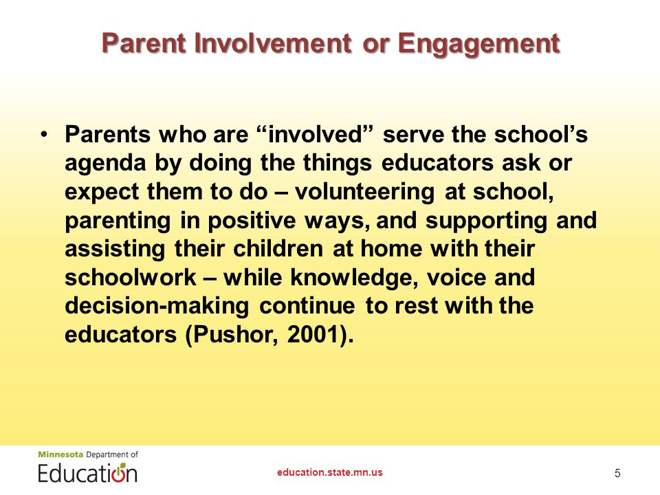 parent and family involvement in education