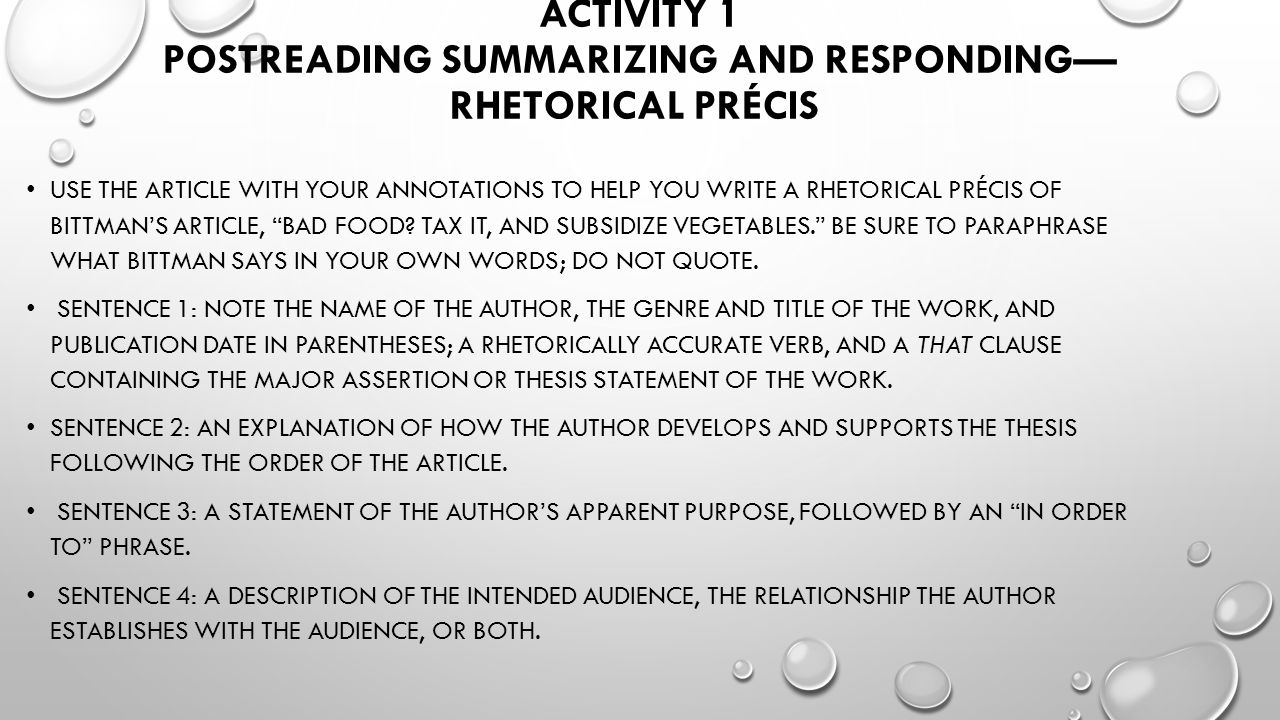 summarizing and responding essay A national dialogue about personal values and civic ideals explain that a personal essay often combines elements of both the narrative and the memoir.