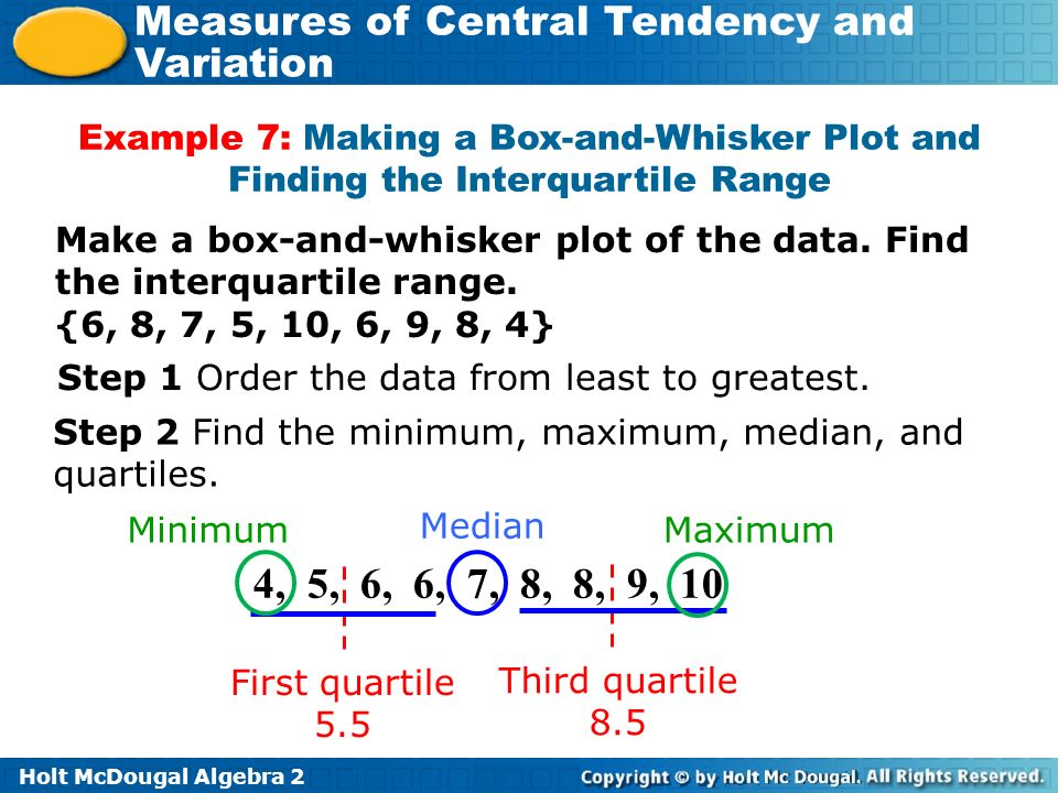 What are the effects of outliers on statistical data ppt video example 7 making a box and whisker plot and finding the interquartile range ccuart Images