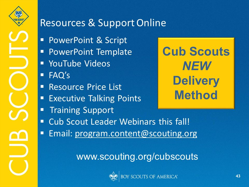 Cub scouts new delivery method ppt video online download for Boy scout powerpoint template