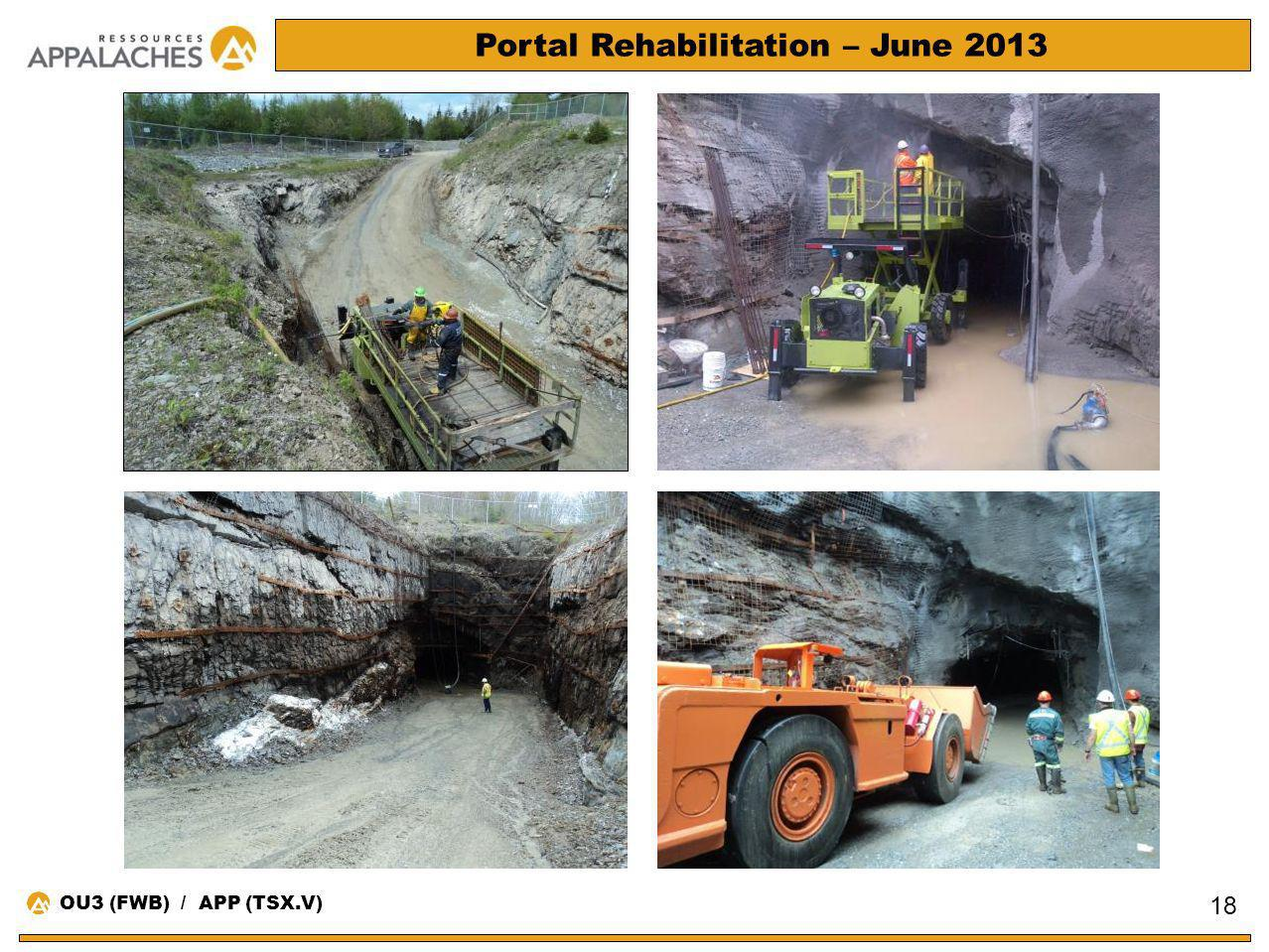 Portal Rehabilitation – June 2013