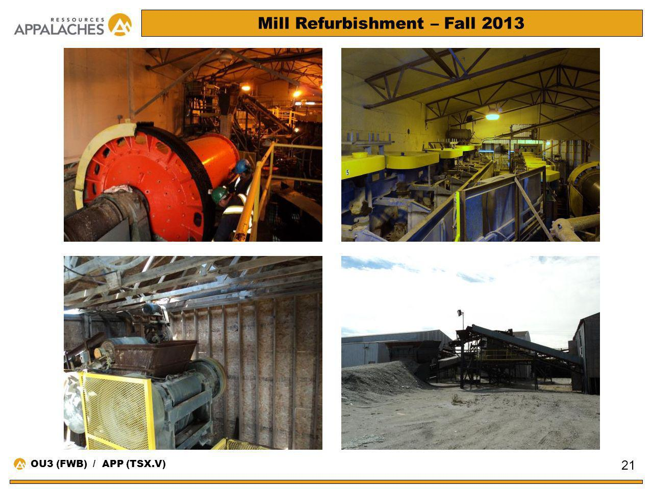 Mill Refurbishment – Fall 2013