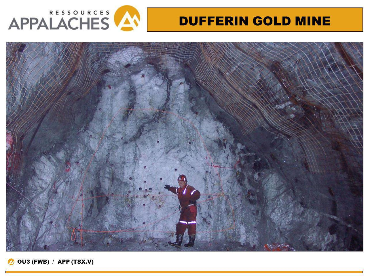 DUFFERIN GOLD MINE OU3 (FWB) / APP (TSX.V)
