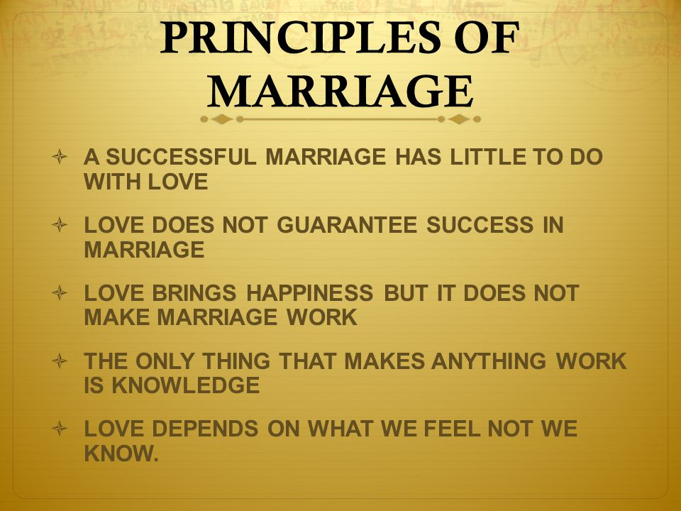 """the changes men and women should make to have a successful marriage It doesn't take hard work to keep a relationship happy or stable over time,  to  her research, consistent, small and simple changes create a successful marriage   men need more affective affirmation than women because women """"can get it."""