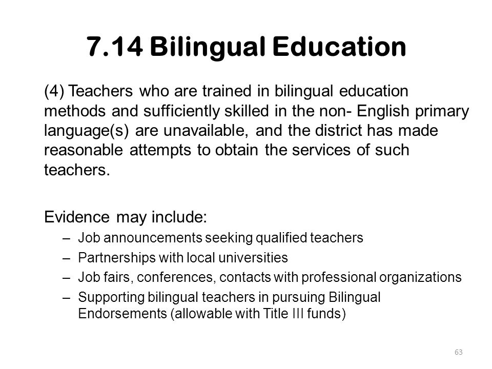 Transitional bilingual instructional program and title iii 714 bilingual education toneelgroepblik Gallery