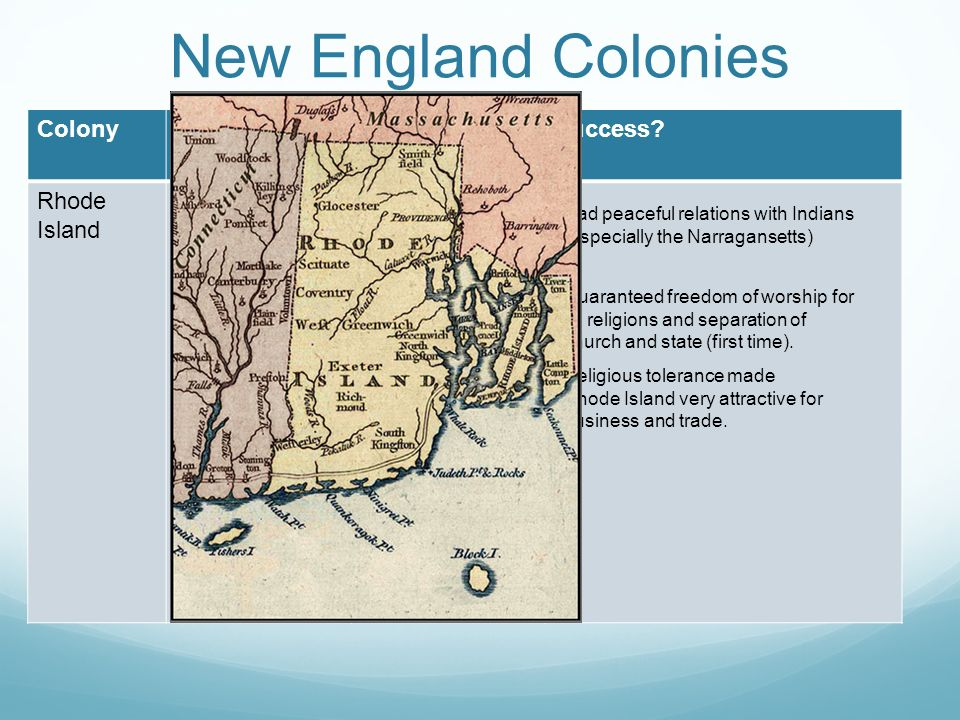 Colonial New England and Religious Tolerance