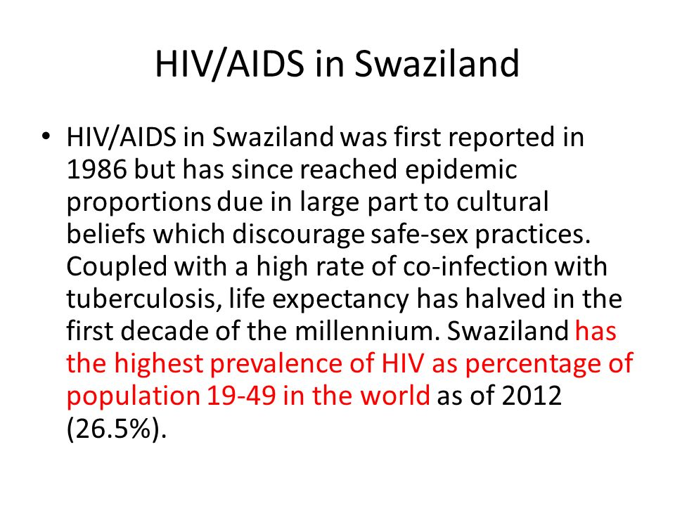 HIV/AIDS in Swaziland