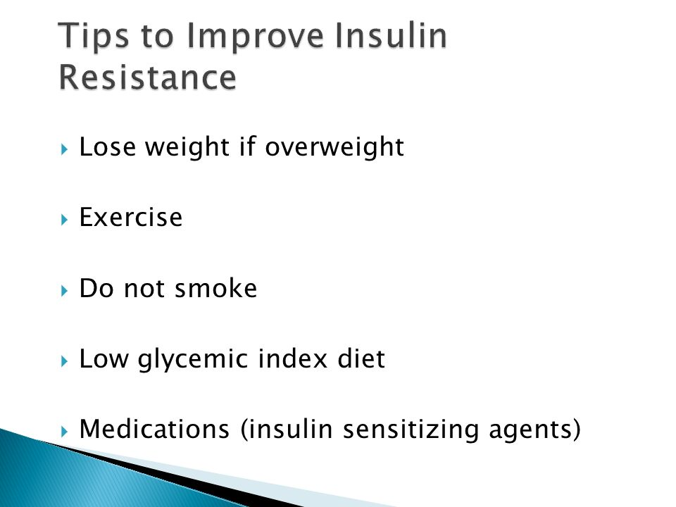 how to lose weight if your insulin resistance