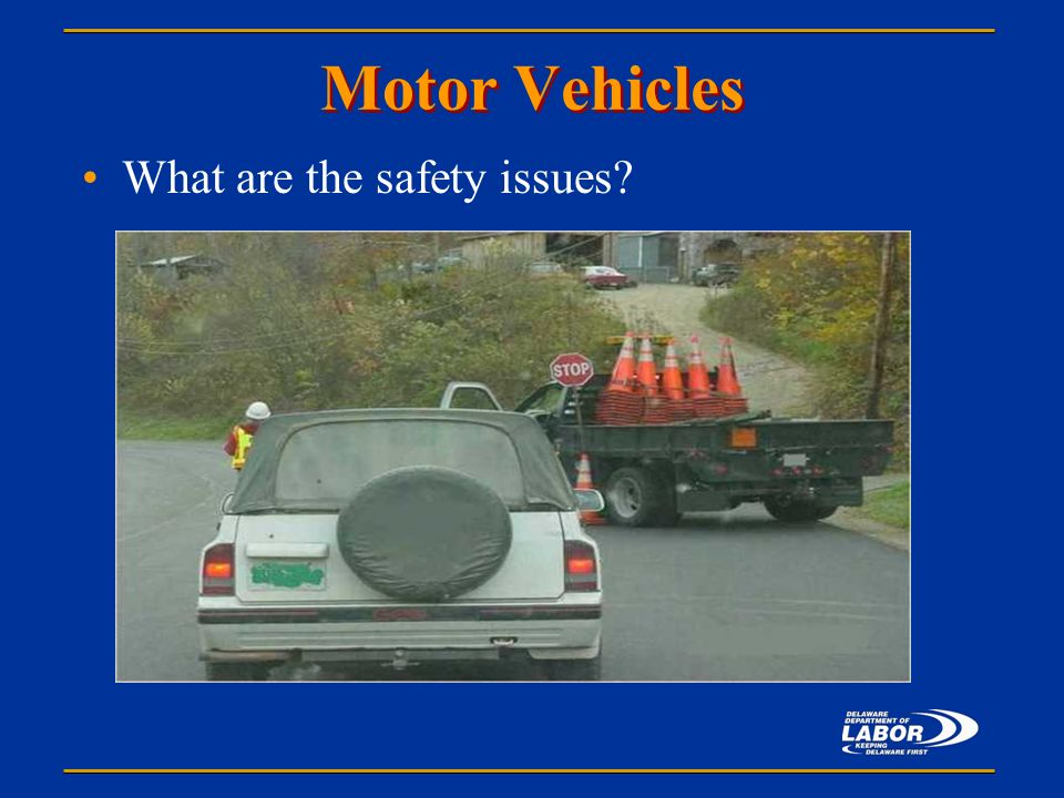 Office of safety health consultation presents ppt Motor vehicle safety