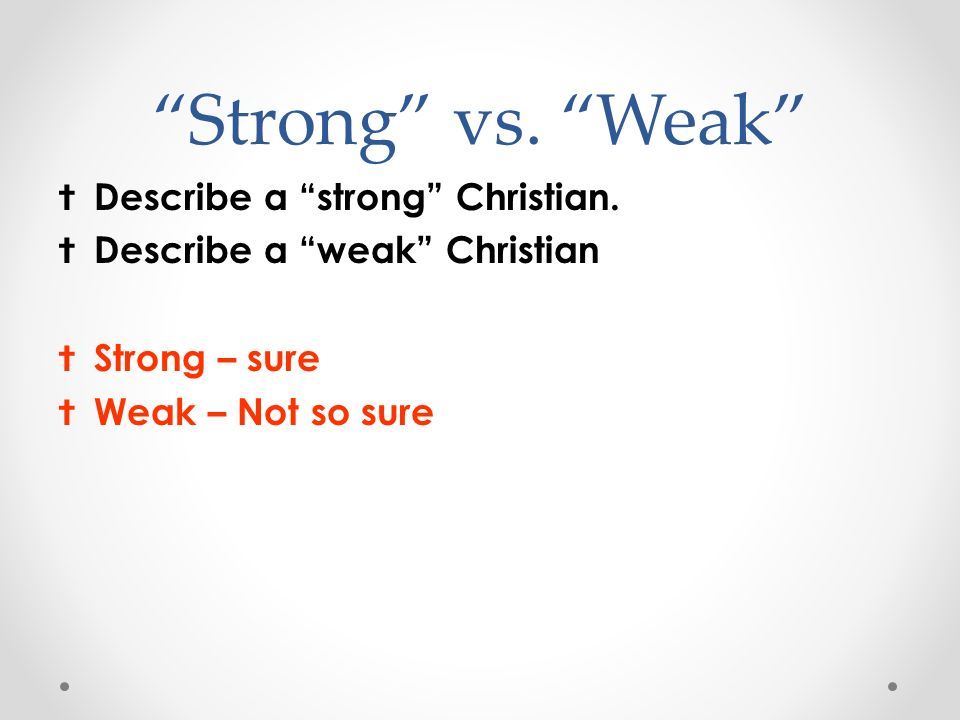 how to become a strong christian