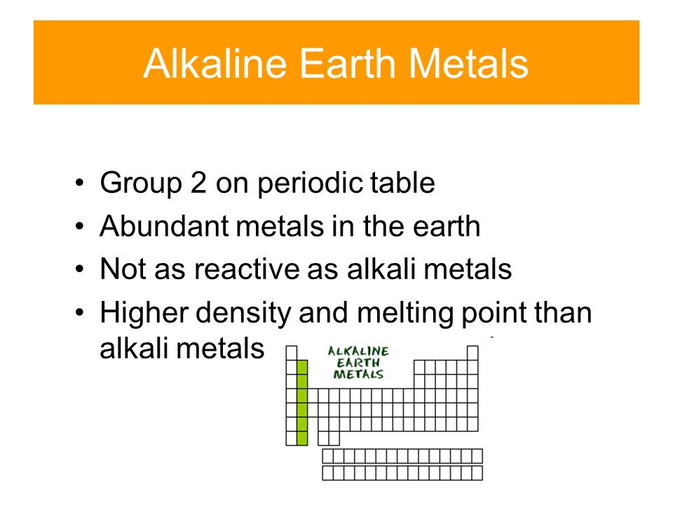 Periodic groups and trends ppt video online download alkaline earth metals group 2 on periodic table urtaz Images