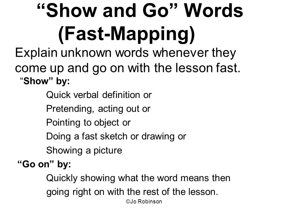 Fast Mapping Language Definition Slow Mapping Inspiring World Map