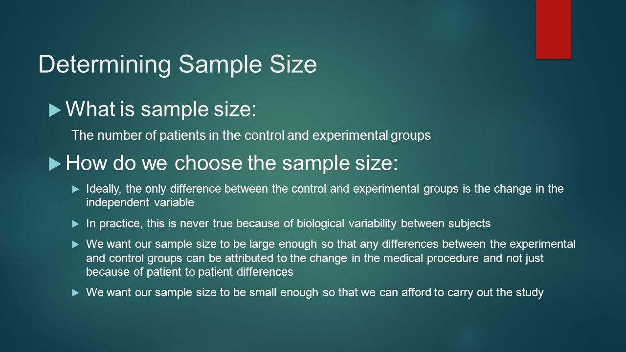 how to choose sample size