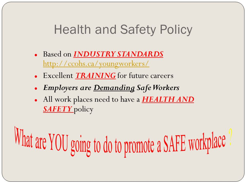 Transportation Program Safety Policy  Ppt Download
