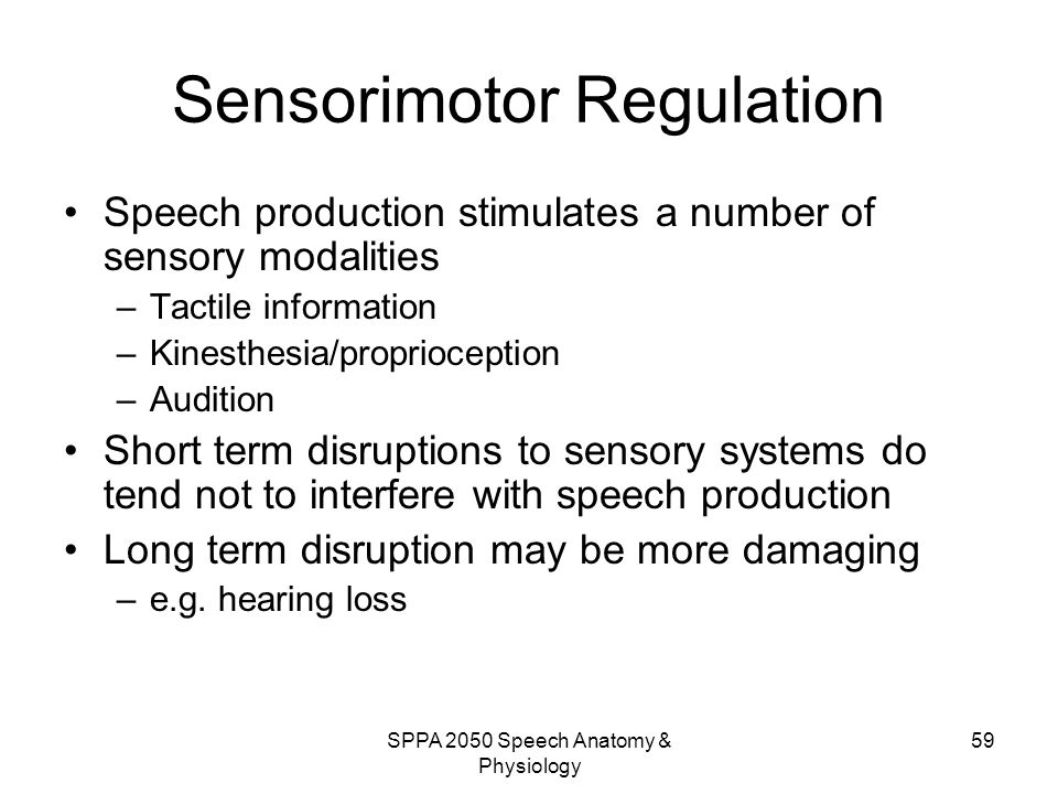Sensorimotor Regulation