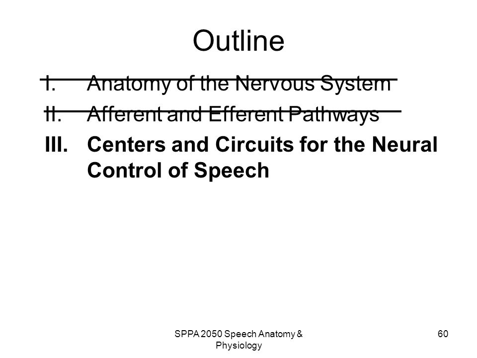 SPPA 2050 Speech Anatomy & Physiology